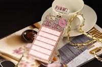 2014 100% handmade Fashion Luxury Brand Perfume Bottle Bling Diamond Soft Case