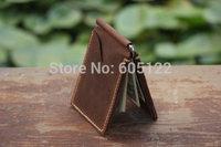 Leather Money Clip Wallet Distressed Leather Men's Women's Wallet Minimailist Wallet Credit Card Holder Groomsman Gift-R022