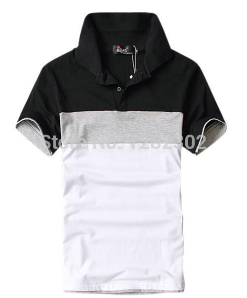 2014Free shipping we best 2014 hot sale fashion & casual men's turn-down collar short sleeve polo shirts Drop shipping MTP010(China (Mainland))