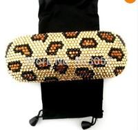 45 colors available Free shipping(6pcs/lot) Wholesale Fashion rhinestone sunglasses case