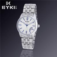 EYKI Men Luxury Fashion Brand Watches, Automatic Date, Waterproof, Quartz Movement Leather Watch, Free Shipping