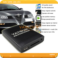 YATOUR Digital Music Changer AUX SD USB MP3 Adapter for Alfa Romeo 147 156 159 Brera GT Spider MiTo (GIFT: 8GB USB Disk)