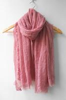 (free shipping)21colors new glitter crumple plain shawl,muslim shawl ,muslim hijab  180*100cm viscose can choose colors