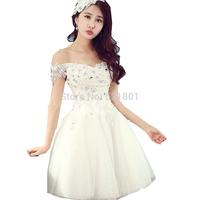 2015 new short wedding dress lace white wedding dresses vestido de noiva bridal gown vestido de festa longo puls size 371