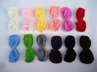 DIY hand-woven Bowknot manual knitting cotton handmade hand hook milk wool Big flowers crochet accessories material