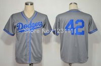 Los Angeles #42 Jackie Robinson Jersey,Throwback Baseball Jersey,Top quality,Embroidery logos,Authentic Jersey,Can Mix Order