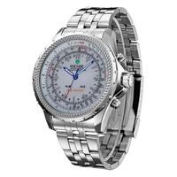 2014 New Fashion Watches WEIDE Analog Men Full Steel Watch Round Hardlex Quartz Wristwatches Hot Promotions