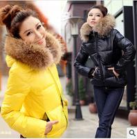 women short jacket, parka jacket casual and fashion fur collar hooded women coat, free shipping, L0804