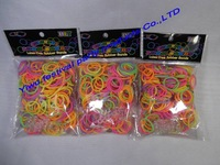 2014 nwe styles colorful pearl loom bands kit  ,pearl rubber bracelet .  Mix colorful Silicone Bracelet Crazy DIY for kids