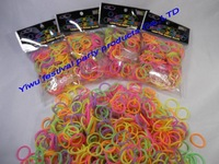 600bags/lot  pearl loom bands rubber bracelet  free shipping fee   diy loom bands for kids from china cheap factory supplier