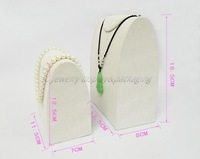Jewellry Display Props Necklace Jewelry Pendant Display Stand Holder Beige Velvet Necklace Show Cheaper than others