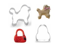 Free shipping  Cookie Cutters  Dog and bag  Metal mold for biscuit  baking tools 2pieces/lot