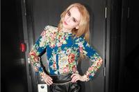 (WMF006) Chiffon Shirt Female Long-Sleeve Lace Women Shirt Floral Printing Mandarin Collar S, M, L, XL