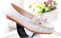 2014 new casual shoes large size flat bottom tendon mother shoes with white nurse shoes comfortable shoes singles