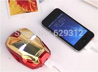 Free Fedex!10pc/lot Newest hot sale IRON MAN 3 battery bank 8000mah external battery pack power bank flashlight+retail package