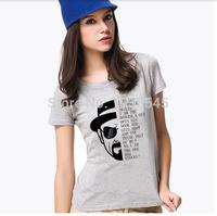 New Fashion Breaking Bad T Shirt Womens Clothing Heisenberg Printed Short Sleeve Punk T-shirts Brand Tops For Women Plus Size