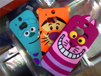 Free shipping 3D Cute Cartoon silicone  Sulley  Tiger Cat Monsters University Cases for HTC ONE M8 Back Cover..