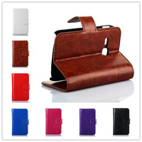 High-Quality Senior Leather Wallet Window Pouch Phone Case Cover Holster For Samsung GALAXY Young S6310 S6312 Shell B1276