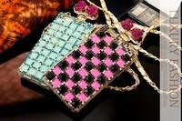 New Luxury BRAND GLAM MISS Perfume Case TPU Chain Handbag perfume bottle Case Cover