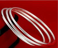 NEW!!10pcs Wholesale Nice women's silver cuff bracelet bangle 6cm,10pcs/lot,free shipping