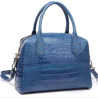 New 2014 Autumn Winter Women Lady Europe Famous Brand Emboss Crocodile Real Oxhide Leather Handbag Shoulder Messenger Tote Bag