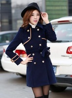 casacos femininos 2014 new arrive autumn winter women's wool blend coats double-breasted outerwear trench coat overcoat 429