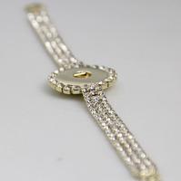 6pcs/lot New DIY Interchangeable 18mm silver gold chain bracelet full rhinestone snap button bracelet jewelry free shipping