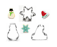 Free shipping  Cookies Cutters steel,Christmas 3 sets mold for cookies,snow, snowman,hats,Baking tools  3pcs/lot