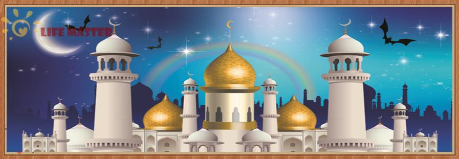 Castle Scenery Drawing Scenic Arabic Castle 5d