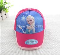 New Arrival Retail  Baby girls Frozen Baseball Hats/Anna Elsa Sports Caps/Snow Queen Hats