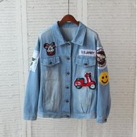 mickey mouse brand jeans jacket women jaquetas jeans feminino denim jacket desigual coat bomber varsity motorcycle jackets