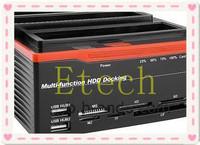"Multi-Function 2.5""/3.5"" 2x SATA 1x IDE HDD Docking Station Clone USB 2.0 HUB S1064"