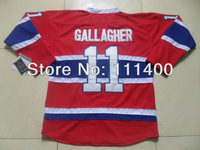 Free shipping 2013 new Hockey jerseys Montreal #11 Brendan Gallagher Red Ice Hockey Jersey All Stitched Size 48-56 can mix order