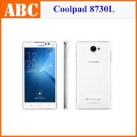 Original Coolpad 8730L 4G LTE phone Quad Core Qualcomm Snapdragon 1G RAM 8G ROM 5.5 Inch IPS Display 3G WCDMA Smart Mobile Phone