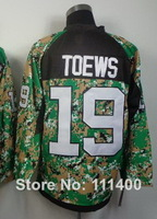 Free shipping Mens #19 Jonathan Toews CAMO With C patch 2014 Authentic Ice Hockey Jersey size: 48-56 can mix order