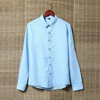 2014 men's Linen solid camisas shirts mens long-sleeve slim fit casual summer shirt fashion camisa masculina for man wholesales