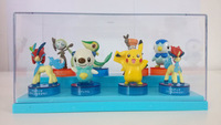 cartoon toys pocket monster figurine for children kids brinquedos pokemon figure anime model pikachu and friends 8 pcs a lot