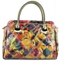 Wholesale 2014 new cowhide genuine leather handbag Color paint female bag Kraft splicing package shoulder inclined shoulder bag