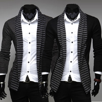 2014 brand new arrive men's fashion leisure wool cotton cardigan knitting shirts Mens coat sweater male outerwear size : M- XXL
