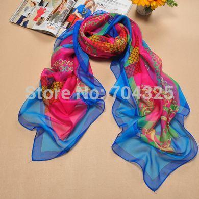 Summer Pashmina Women'S Scarf Long Shawl Printed Cape Silk Chiffon Tippet Muffler Echarpes Scarves2014(China (Mainland))