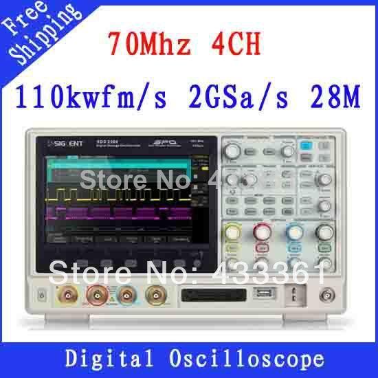 Осциллограф SIGLENT 8/tft/lcd 70 4 SDS2074 28 осциллограф siglent sds1102dl 100 2 7 32kpts 500msa s sds 1102dl