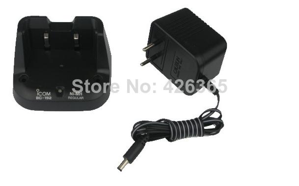Free shipping NEW Radio two way battery charger BC-192 BC192 For NIMH battery ICOM IC-V80 IC V80E 2 way radio(China (Mainland))