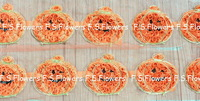 """Free ePacket/CPAP 198pcs/18y 2.5"""" chic chiffon pumpkin for Hallowmas Halloween Day clothes baby girls hair accessories"""