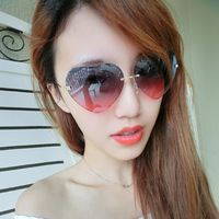 2014 hot sale adult photochromic black 5367 new love street shooting star sunglasses peach heart heart-shaped glasses