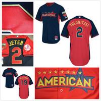 freeshipping American League Colorado Rockies Jerseys 2# Troy Tulowitzki /blackmon 2014 All Star Baseball jerseys/shirt