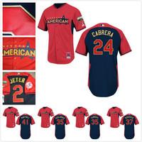 freeshipping American League detroit tigers #24 Miguel Cabrera/verlander /cebrera 2014 All Star Baseball jerseys/shirt