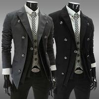 2014 Hot Sale Autum Casual Man Jacket Slim Thin Men Coat Outwear Plus Size M L XL XXL  Free Shipping