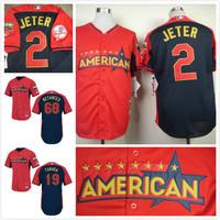 freeshipping American League New York #2 Derek Jeter /tanaka/ betances 2014 All Star Baseball jerseys/shirt