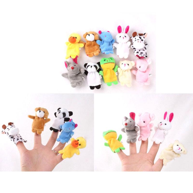 10Pcs/lot Cartoon Animal Finger Puppet,Finger Toy,Finger Doll,Baby Dolls,Baby Toys,Animal Doll Free Shipping(China (Mainland))