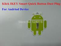 10pcs/lot New IKEY Idea Key Klick Quick Button Dust-proof Plug for Andriod Smart Phone 3.5mm Headphone Headset Dust Plug